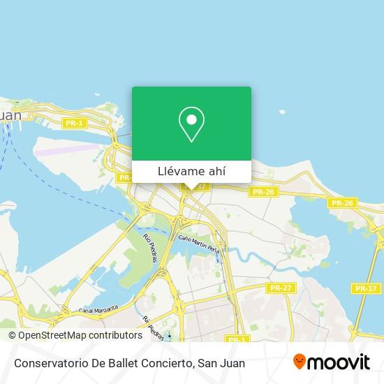 Mapa de Conservatorio De Ballet Concierto