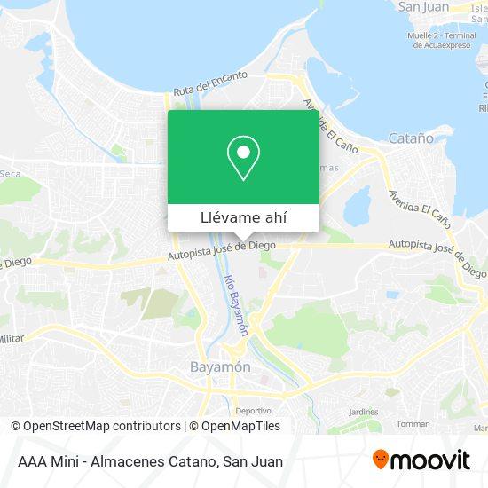 Mapa de AAA Mini - Almacenes Catano