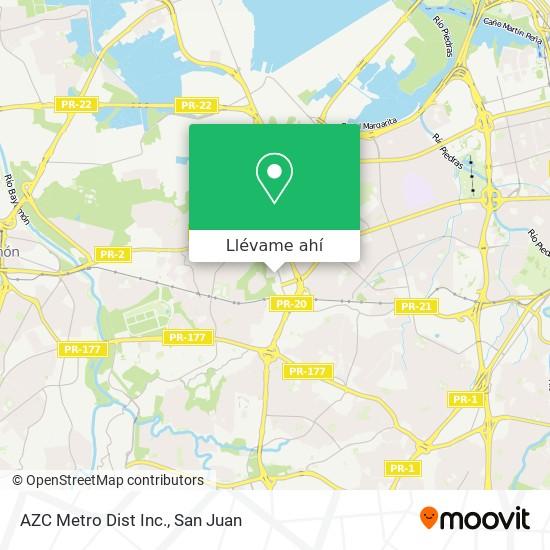 Mapa de AZC Metro Dist Inc.