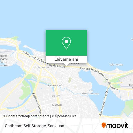 Mapa de Caribeam Self Storage