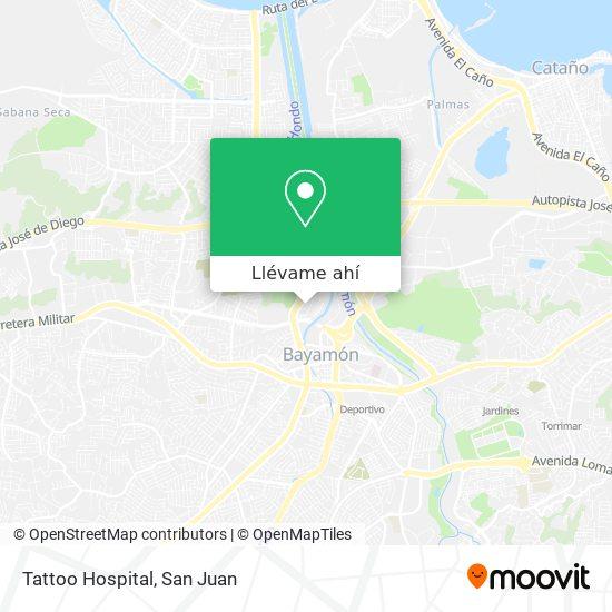 Mapa de Tattoo Hospital