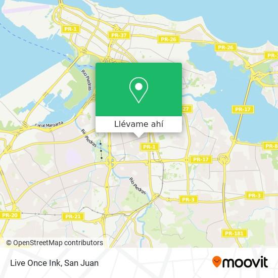 Mapa de Live Once Ink