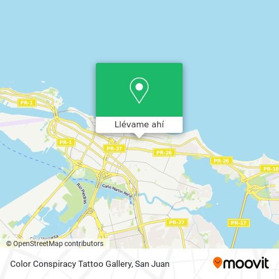 Mapa de Color Conspiracy Tattoo Gallery