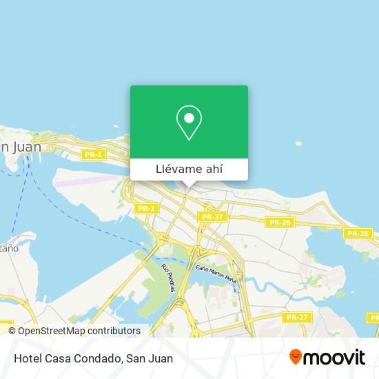 Mapa de Hotel Casa Condado
