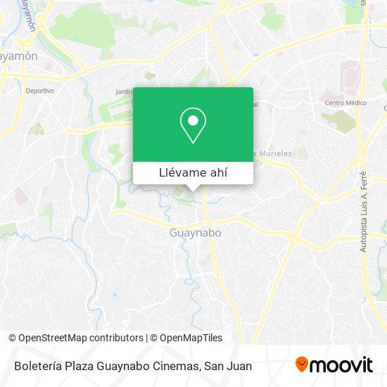 Mapa de Boletería Plaza Guaynabo Cinemas