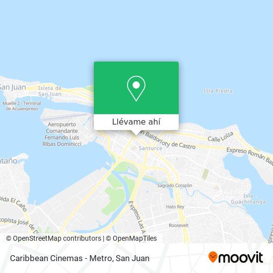 Mapa de Caribbean Cinemas - Metro