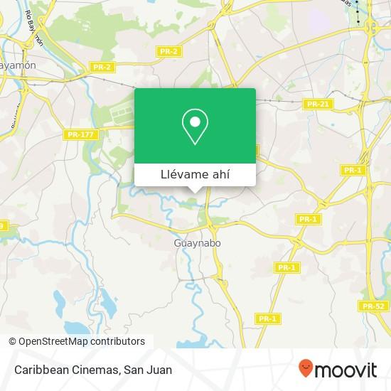 Mapa de Caribbean Cinemas