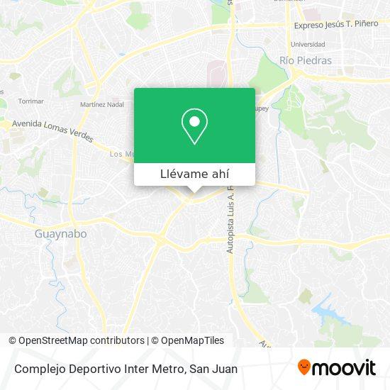 Mapa de Complejo Deportivo Inter Metro