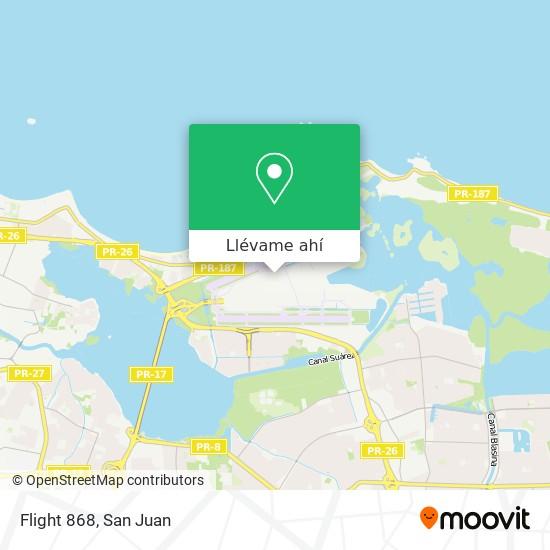 Mapa de Flight 868
