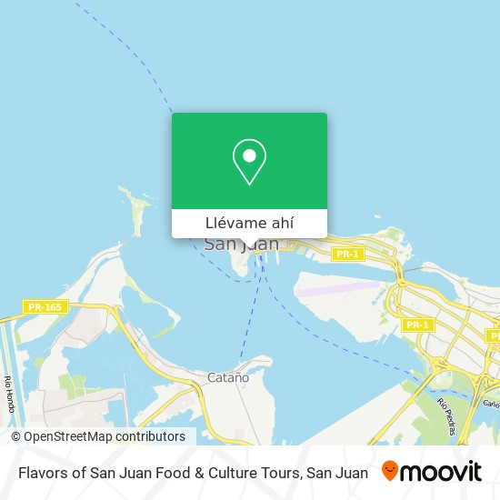 Mapa de Flavors of San Juan Food & Culture Tours