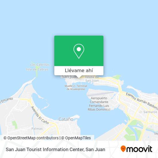 Mapa de San Juan Tourist Information Center