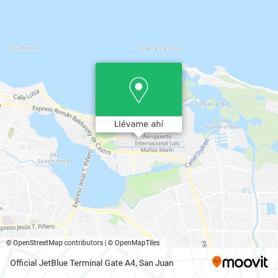 Mapa de Official JetBlue Terminal Gate A4