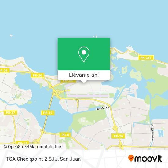Mapa de TSA Checkpoint 2 SJU