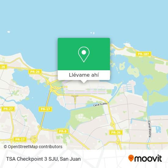 Mapa de TSA Checkpoint 3 SJU