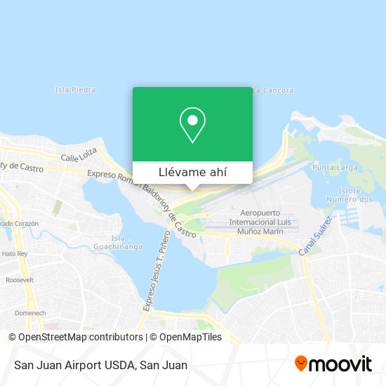 Mapa de San Juan Airport USDA