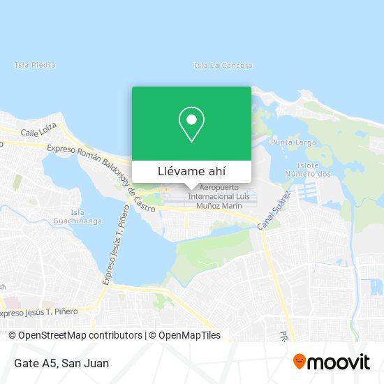 Mapa de Gate A5