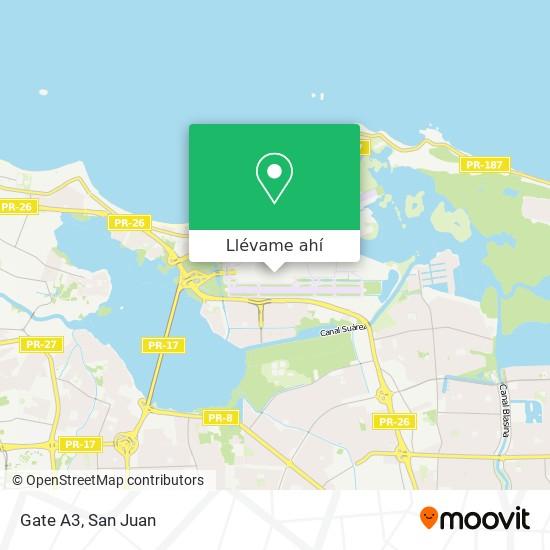 Mapa de Gate A3