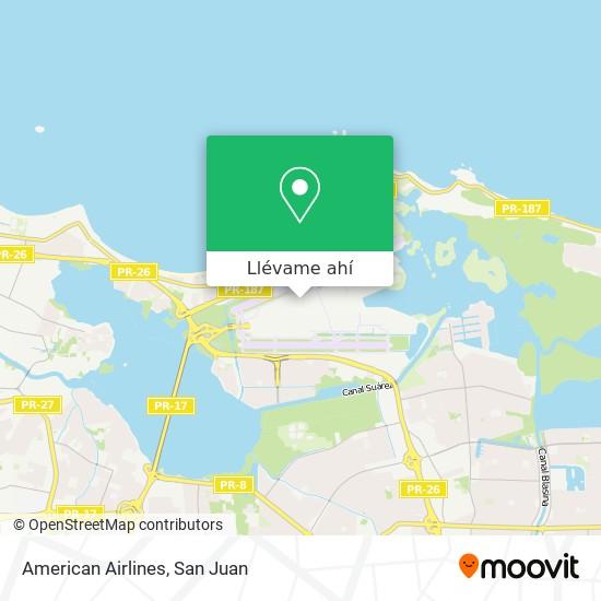Mapa de American Airlines