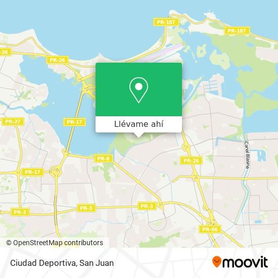Mapa de Ciudad Deportiva