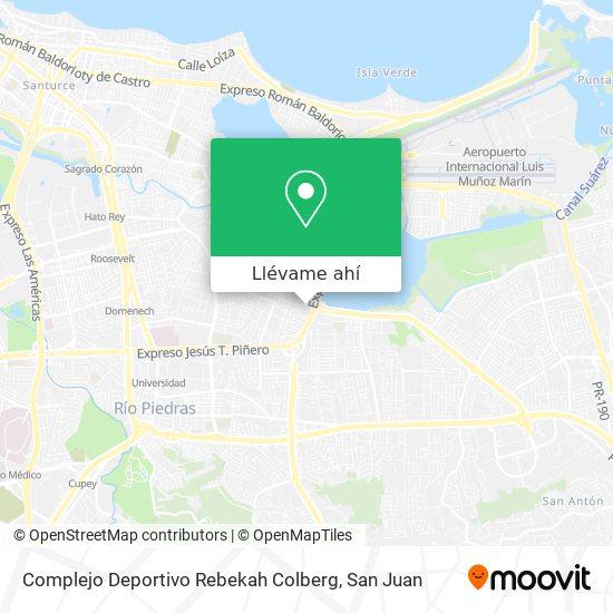 Mapa de Complejo Deportivo Rebekah Colberg