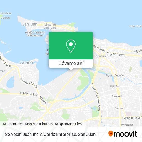Mapa de SSA San Juan  Inc A  Carrix Enterprise