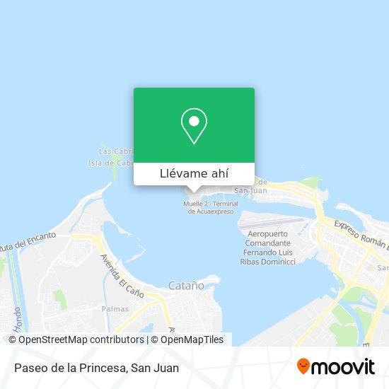 Mapa de Paseo de la Princesa