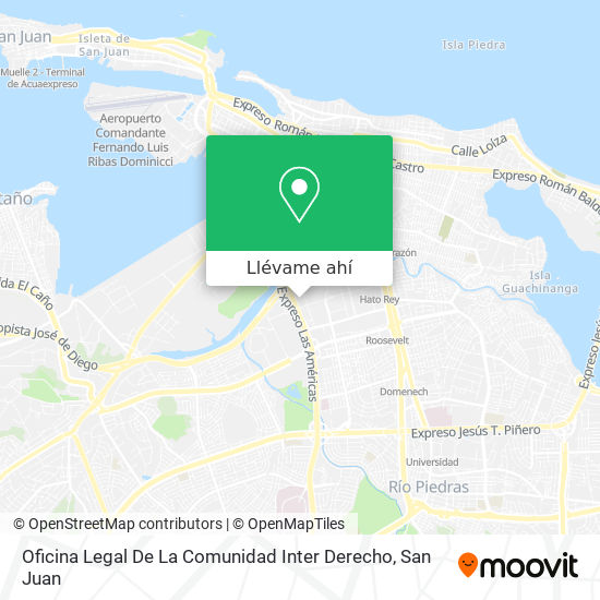 Mapa de Oficina Legal De La Comunidad Inter Derecho