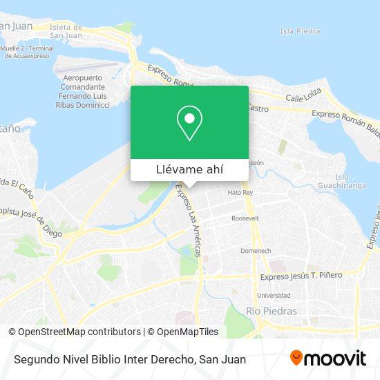 Mapa de Segundo Nivel Biblio Inter Derecho