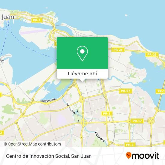 Mapa de Centro de Innovación Social