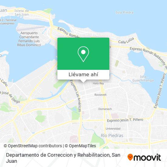 Mapa de Departamento de Correccion y Rehabilitacion