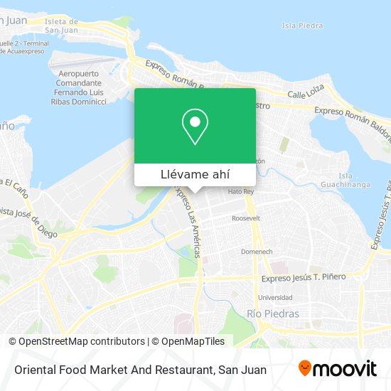 Mapa de Oriental Food Market And Restaurant