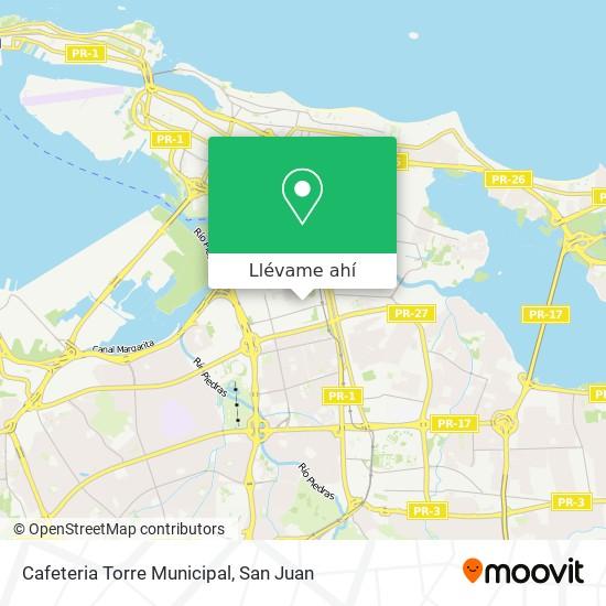 Mapa de Cafeteria Torre Municipal