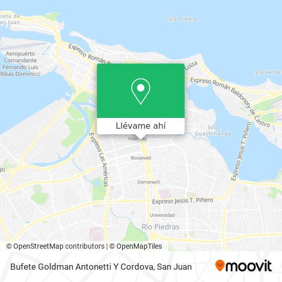 Mapa de Bufete Goldman Antonetti Y Cordova