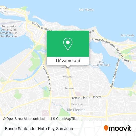 Mapa de Banco Santander Hato Rey