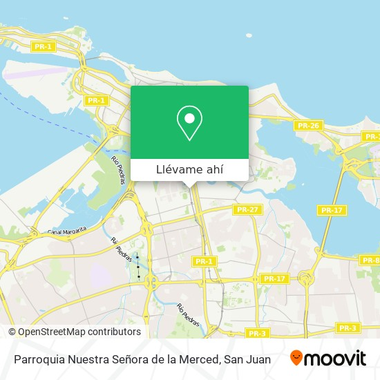 Mapa de Parroquia Nuestra Señora de la Merced