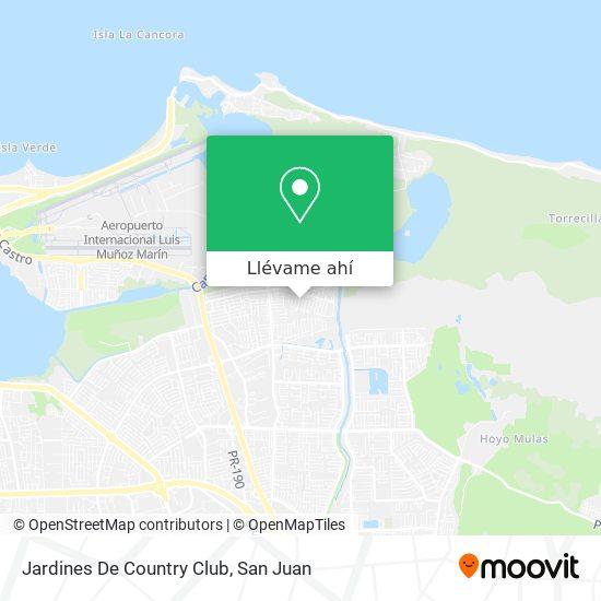 Mapa de Jardines De Country Club