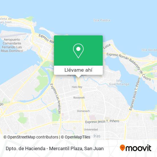 Mapa de Dpto. de Hacienda - Mercantil Plaza