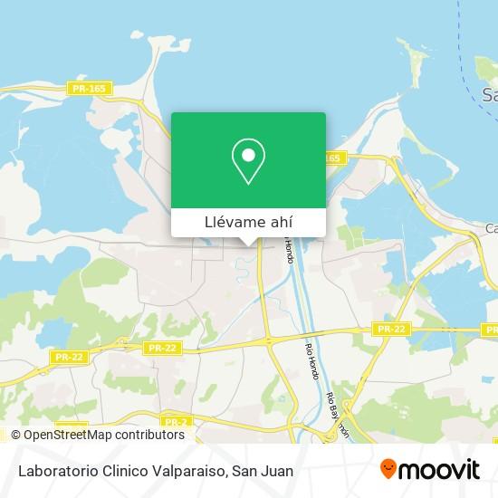 Mapa de Laboratorio Clinico Valparaiso