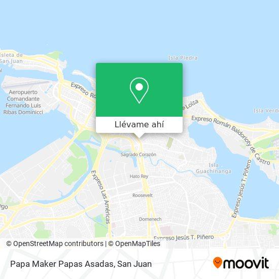 Mapa de Papa Maker Papas Asadas