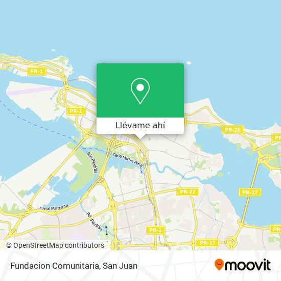 Mapa de Fundacion Comunitaria