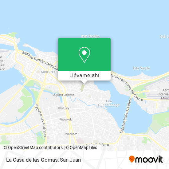 Mapa de La Casa de las Gomas