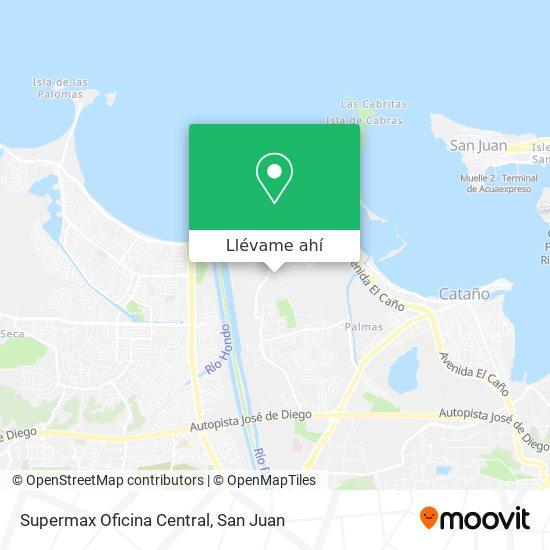 Mapa de Supermax Oficina Central