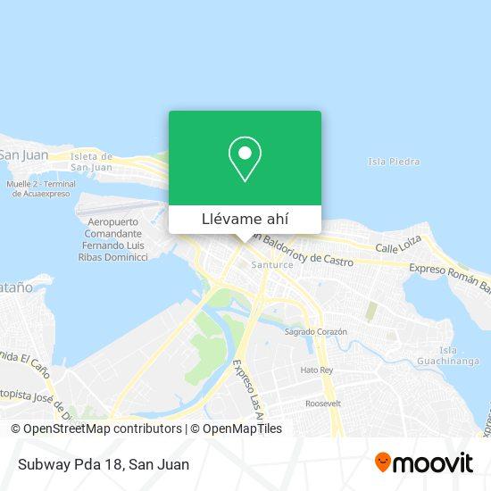 Mapa de Subway Pda 18