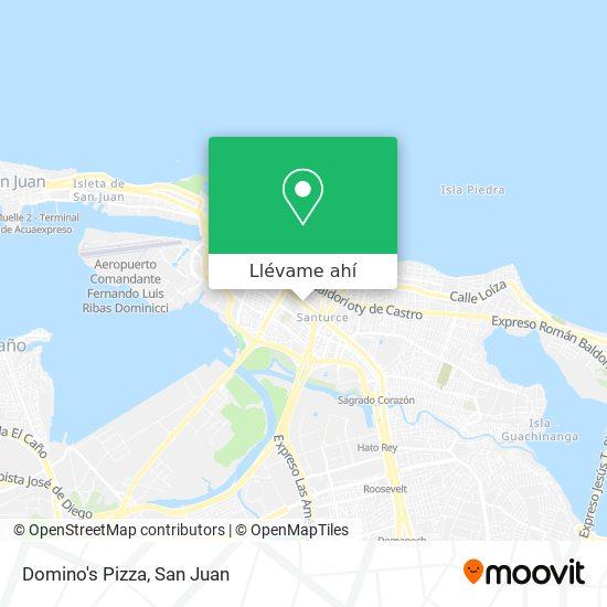 Mapa de Domino's Pizza