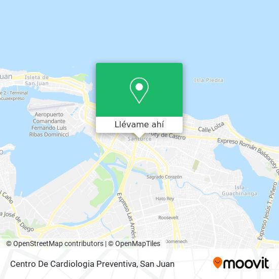 Mapa de Centro De Cardiologia Preventiva