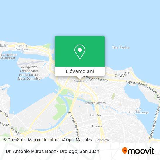 Mapa de Dr. Antonio Puras Baez - Urólogo