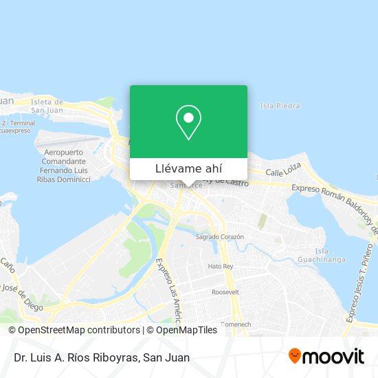 Mapa de Dr. Luis A. Ríos Riboyras