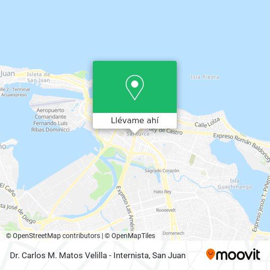 Mapa de Dr. Carlos M. Matos Velilla - Internista