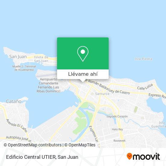 Mapa de Edificio Central UTIER