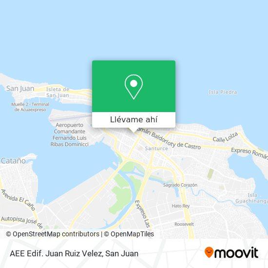 Mapa de AEE Edif. Juan Ruiz Velez